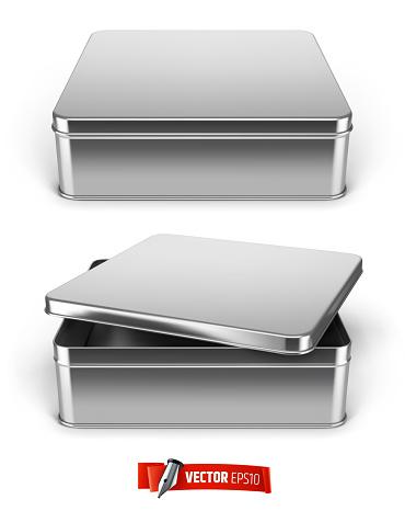 Vector realistic metal boxes