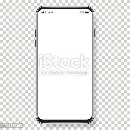 istock Vector realistic mobile phone 1201840383