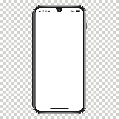 Smartphone with blank screen. Eps10 vector illustration with layers (removeable) and high resolution jpeg file included (300dpi).
