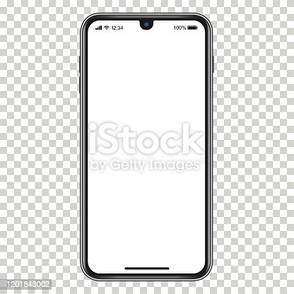 istock Vector realistic mobile phone 1201843002
