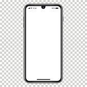 istock Vector realistic mobile phone 1201843002