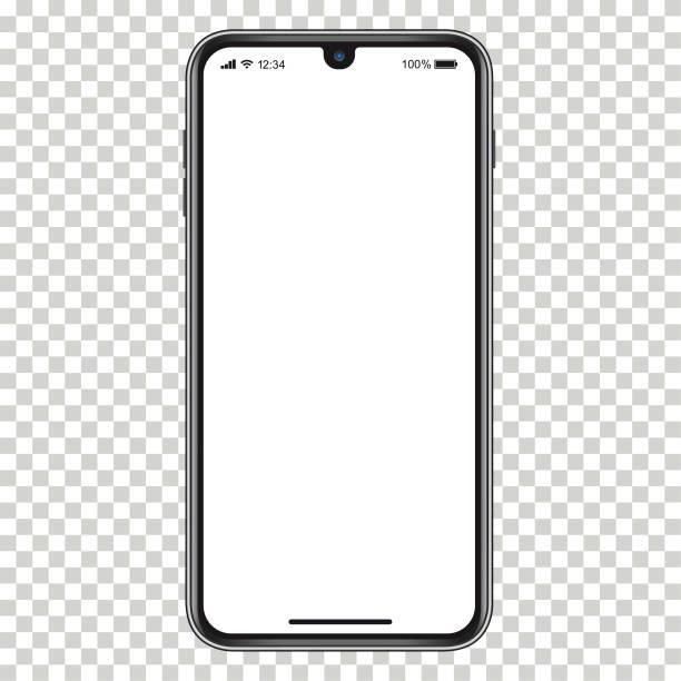 illustrazioni stock, clip art, cartoni animati e icone di tendenza di telefono cellulare vettoriale realistico - smart phone