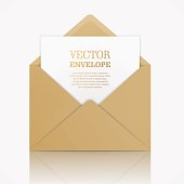 Vector realistic mockup of envelope.