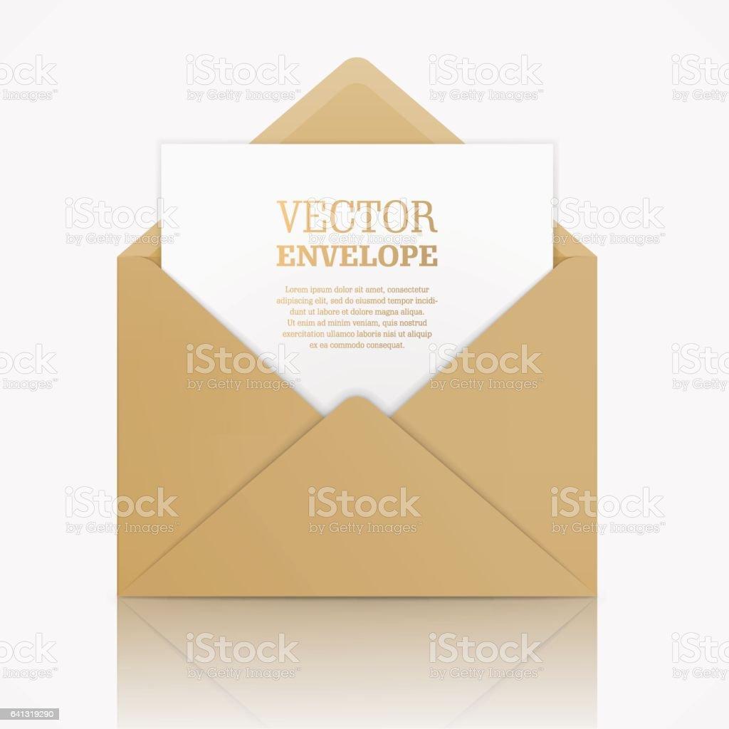 Vector realistic mockup of envelope. vector art illustration