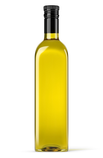 Vector realistic olive oil bottle