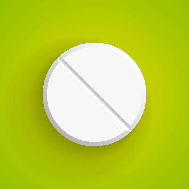Vector Realistic pill, eps10 Vector Realistic pill, eps10 aspirin stock illustrations