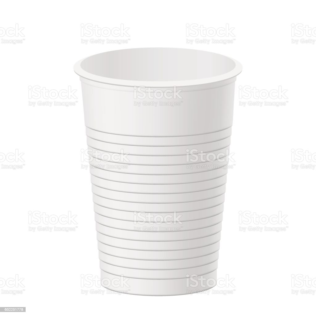 Vector realistic plastic cup vector art illustration