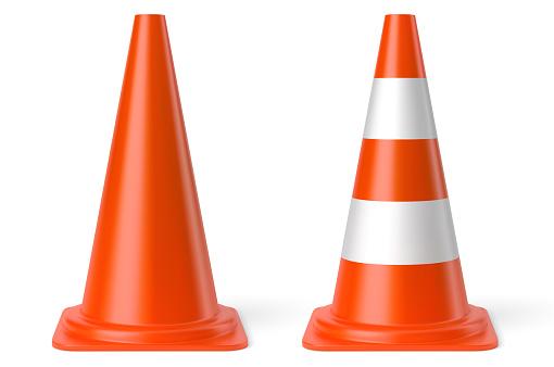Vector realistic traffic cones