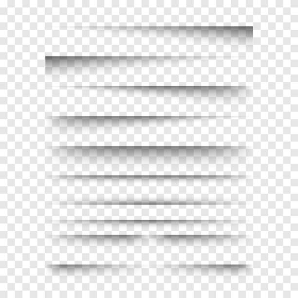 vector realistic transparent shadows set. - тень stock illustrations