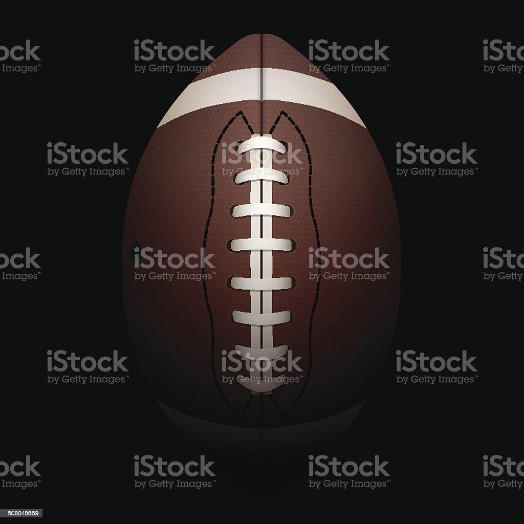Vector Realistic Vertical American Football Illustration vector art illustration