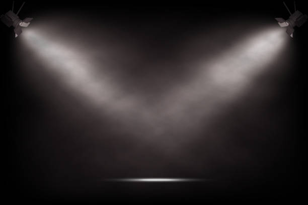 ベクトル現実的なヴィンテージのスポット ライト。劇場やショーの舞台背景。 - ステージ点のイラスト素材/クリップアート素材/マンガ素材/アイコン素材