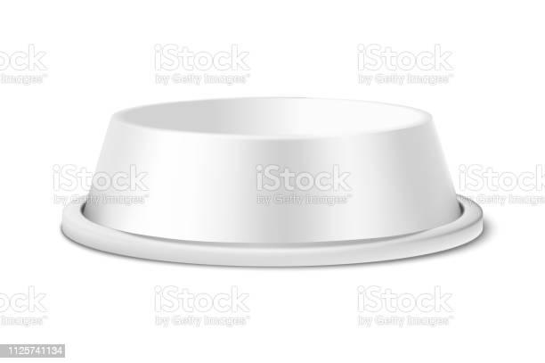 Vector realistic white 3d matte blank plastic or metal pet bowl icon vector id1125741134?b=1&k=6&m=1125741134&s=612x612&h=jz9pbxnitwotzjh zvxpjhulmskvn20pozkkrwne2fo=