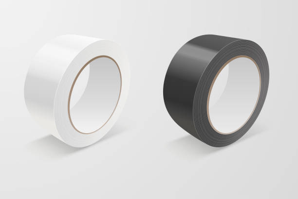 Vector Realistic White and Black 3d Glossy Tape Roll Icon Set or Mock-up Closeup Isolated on White Background. Design Template of Packaging Sticky Tape Roll or Adhesive Tape for Mockup. Front View Vector Realistic White and Black 3d Glossy Tape Roll Icon Set or Mock-up Closeup Isolated on White Background. Design Template of Packaging Sticky Tape Roll or Adhesive Tape for Mockup. Front View. rolling stock illustrations