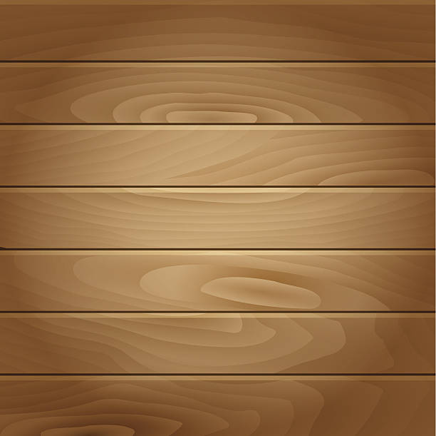 Vector Realistic Wood Background Art Illustration