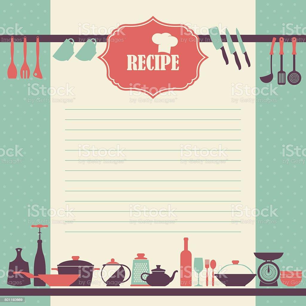 Vector Recipe book page design. vector art illustration