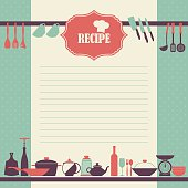 Vector Recipe book page design.