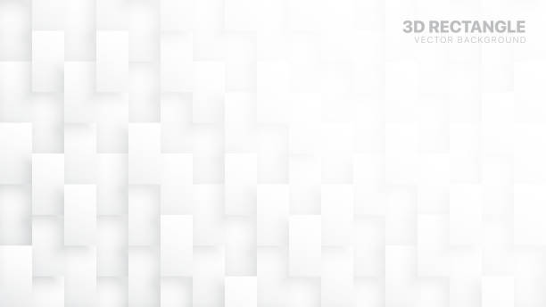 3D Vector Rectangle Blocks Conceptual Tech White Abstract Background. Abstract White Wide Wallpaper. Light Subtle Texture 3D Vector Rectangle Blocks Conceptual Tech White Abstract Background. Science Technology Three Dimensional Tetragonal Structure Sci-Fi Light Wallpaper. Clear Blank Subtle Textured Backdrop white background stock illustrations