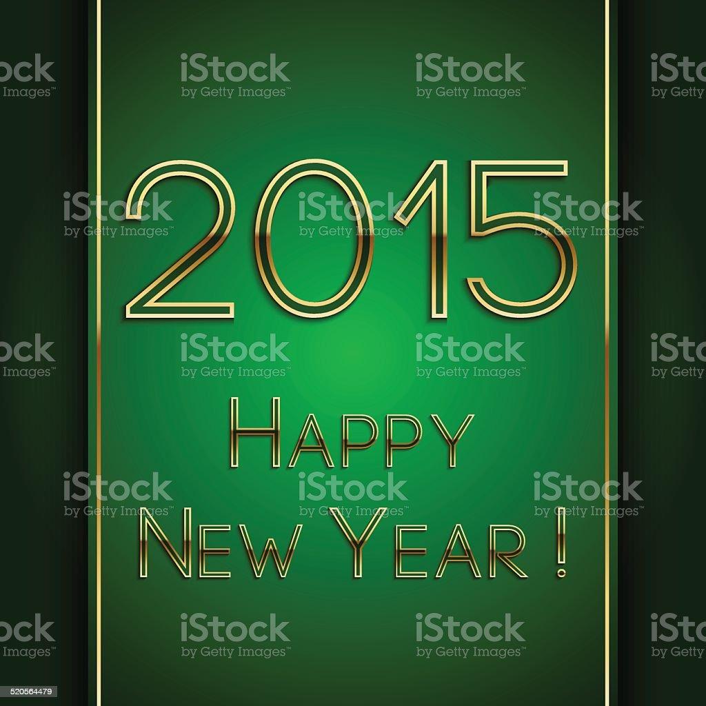 Vektorrechteck Green Begrüßung Neues Jahr 2015 Postkarte Mit ...