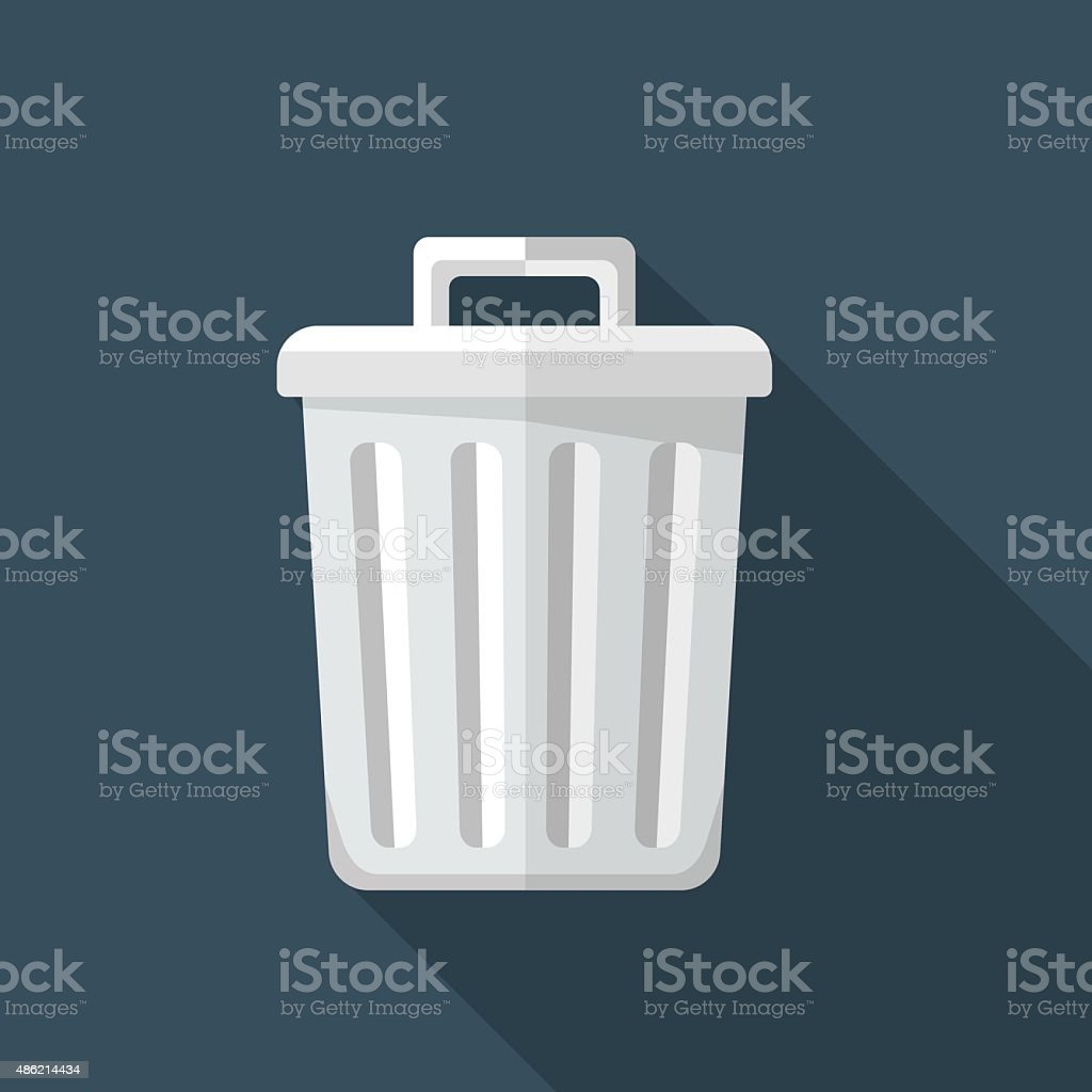 Vector recycle bin icon vector art illustration