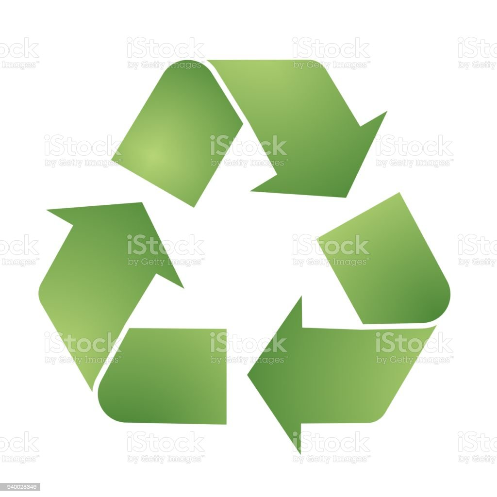 Vector Recycle Symbol For Eco Environments Stock Vector Art More