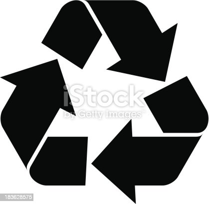 Vector illustration of Recycling Symbol
