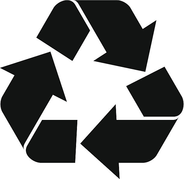 vector recycling symbol - recycling stock illustrations