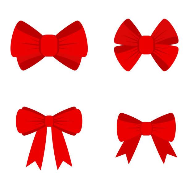 ilustrações de stock, clip art, desenhos animados e ícones de vector red bow - laço nó