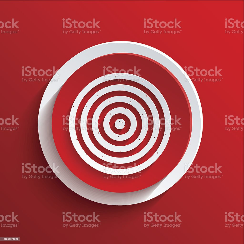 Vector red circle icon. Eps10 royalty-free vector red circle icon eps10 stock vector art & more images of accuracy