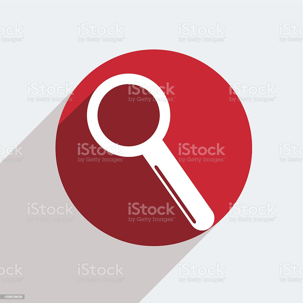 Vector red circle icon  on gray background. Eps10 royalty-free stock vector art