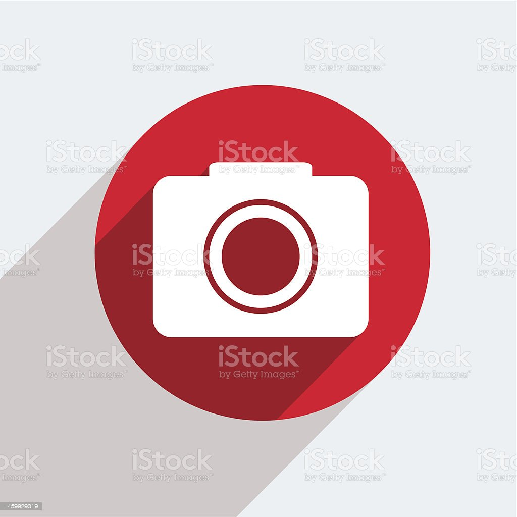 Vector red circle icon  on gray background. Eps10 vector art illustration