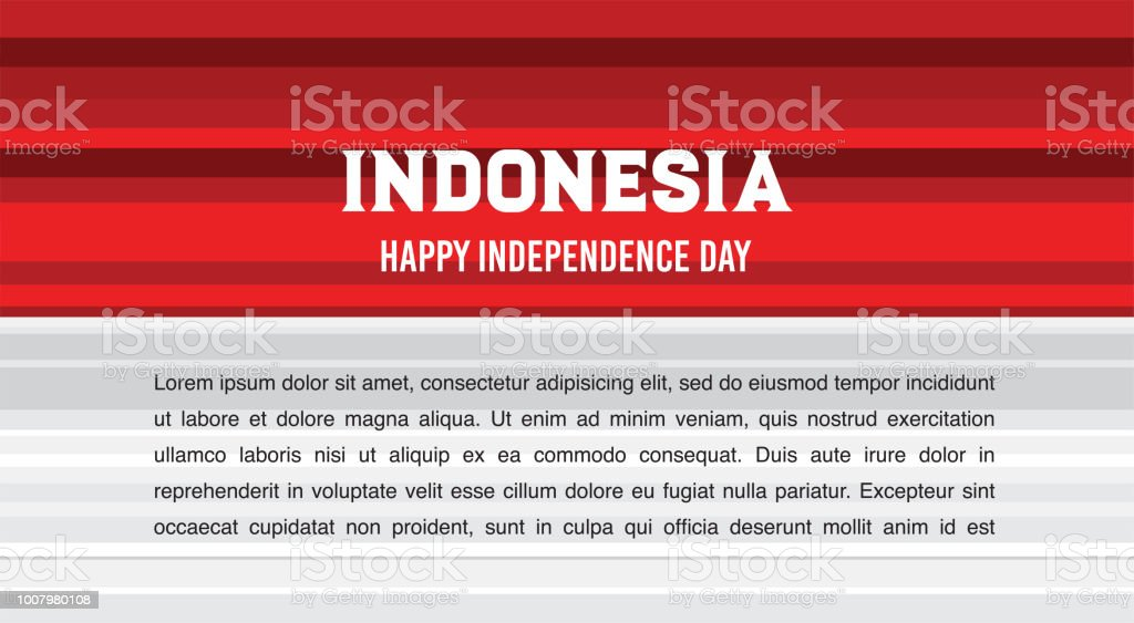 Vector red color design Illustration of abstract Indonesia flag. Welcome to Indonesia concept. banner for celebrate the national day of Indonesia. Indonesia Happy Independence Day greeting card vector art illustration