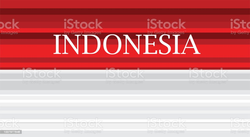 Vector red color design Illustration of abstract Indonesia flag. vector illustration design vector art illustration