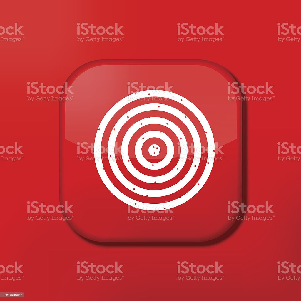 Vector red darts icon. Eps10. Easy to edit royalty-free stock vector art