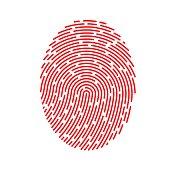 Vector Red Fingerprint