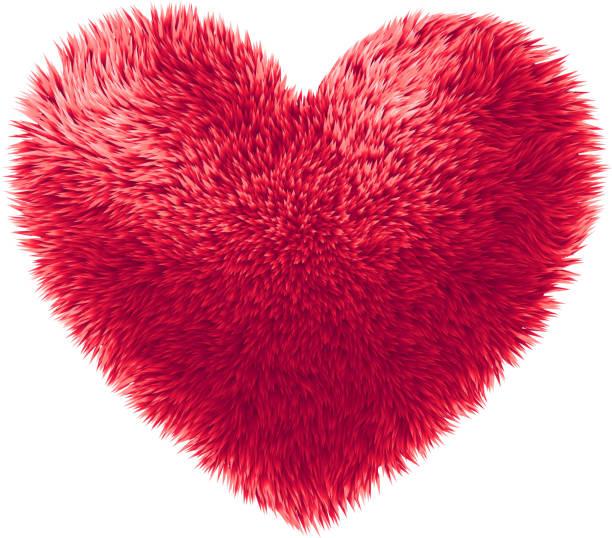 ベクトル赤い毛皮を中心に白い背景の分離 - 毛皮のテクスチャ点のイラスト素材/クリップアート素材/マンガ素材/アイコン素材