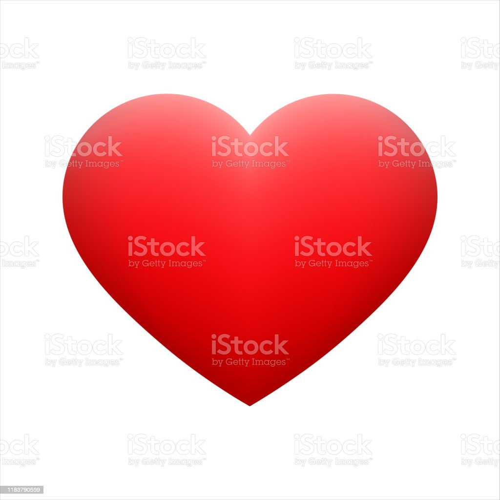 Vector red heart shape emoticon on background. - Royalty-free Amarelo arte vetorial