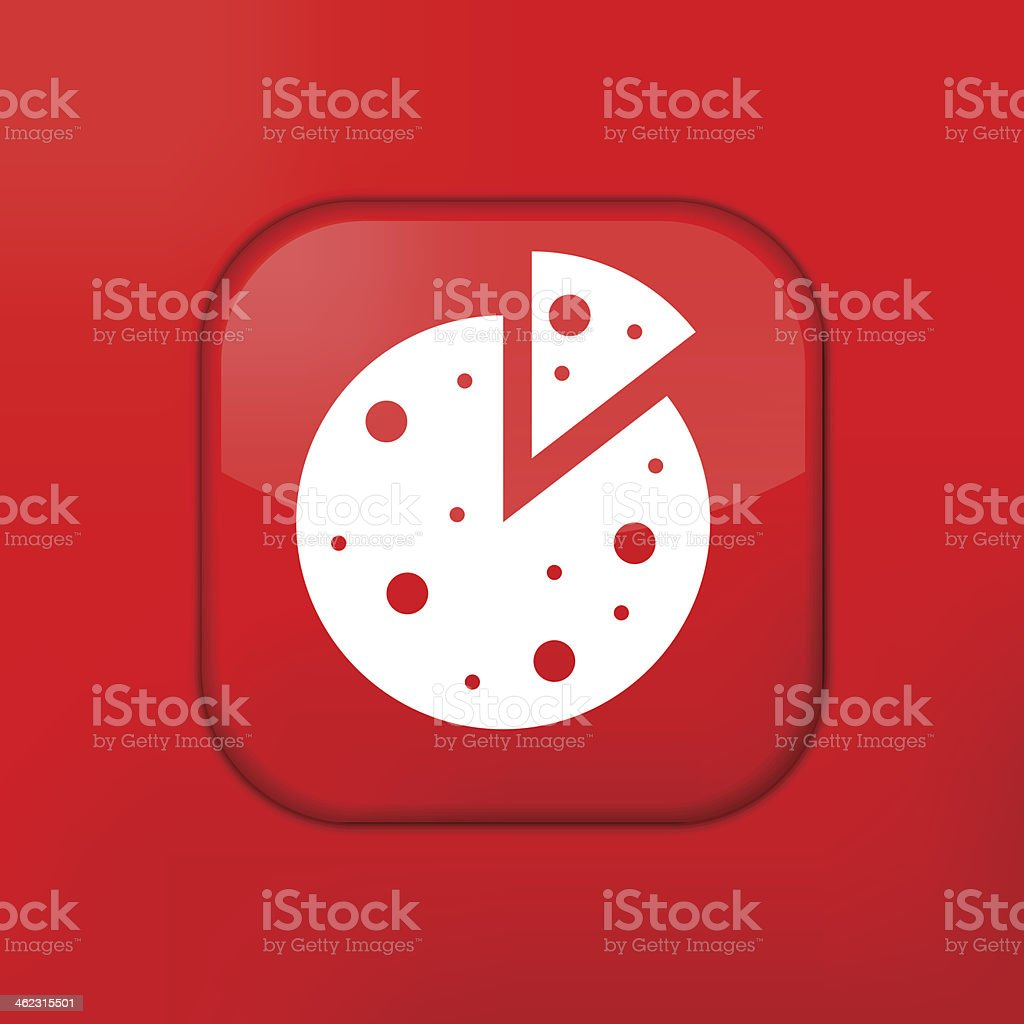 Vector Red Pizza Icon Eps10 Easy To Edit Stock Illustration