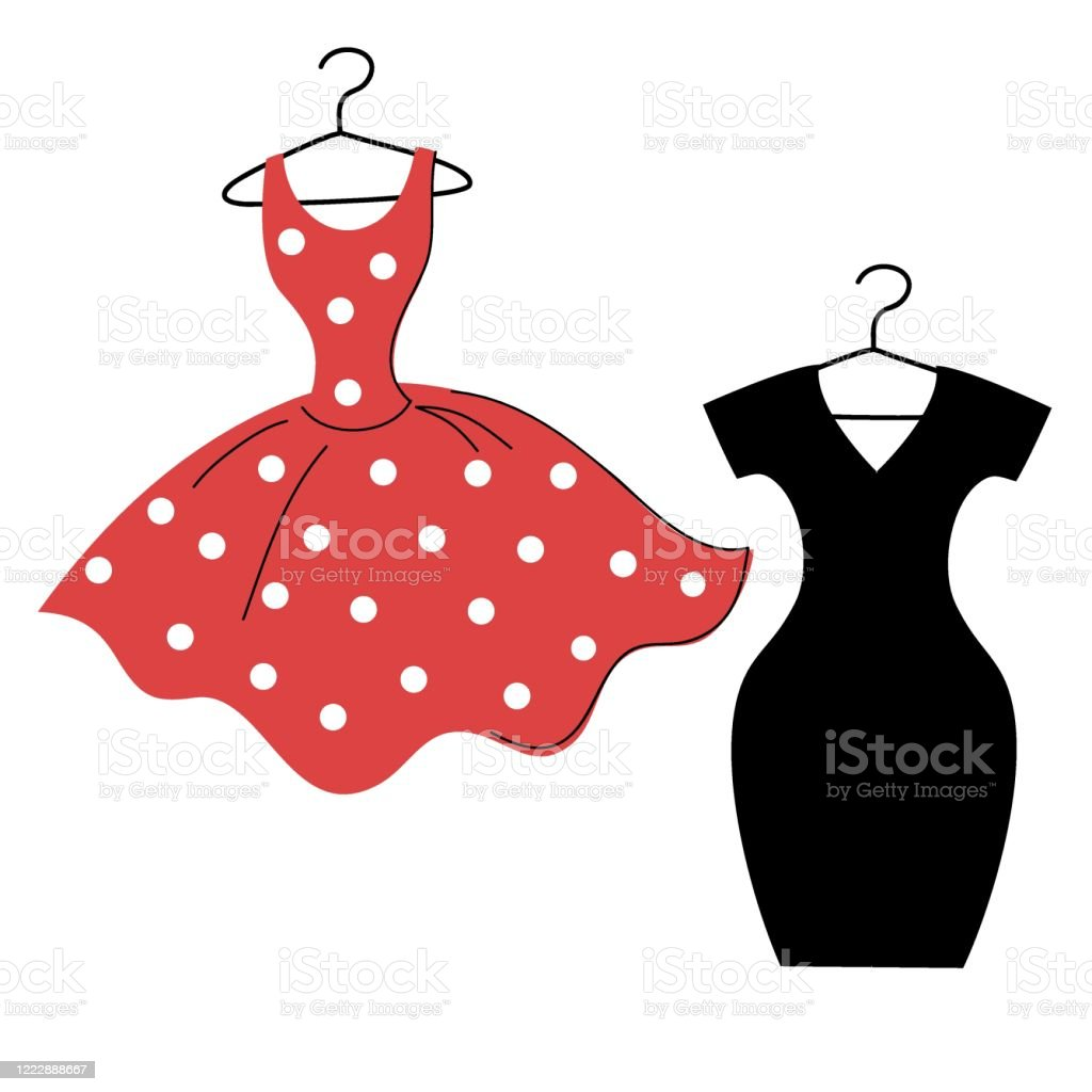 Download Troublesome wall rope red and black polka dot dress ...