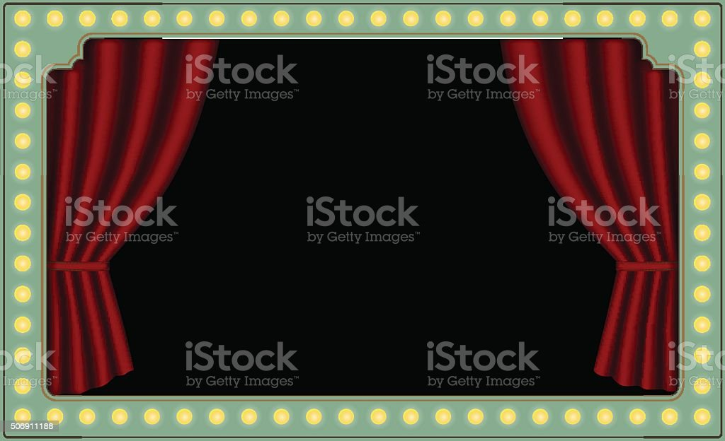 vector red theater curtains circus lights stock vector art more