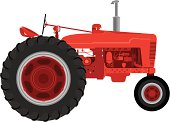 Vector Red Tractor
