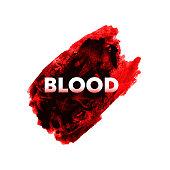 Watercolor blood brush, splatter watercolor design