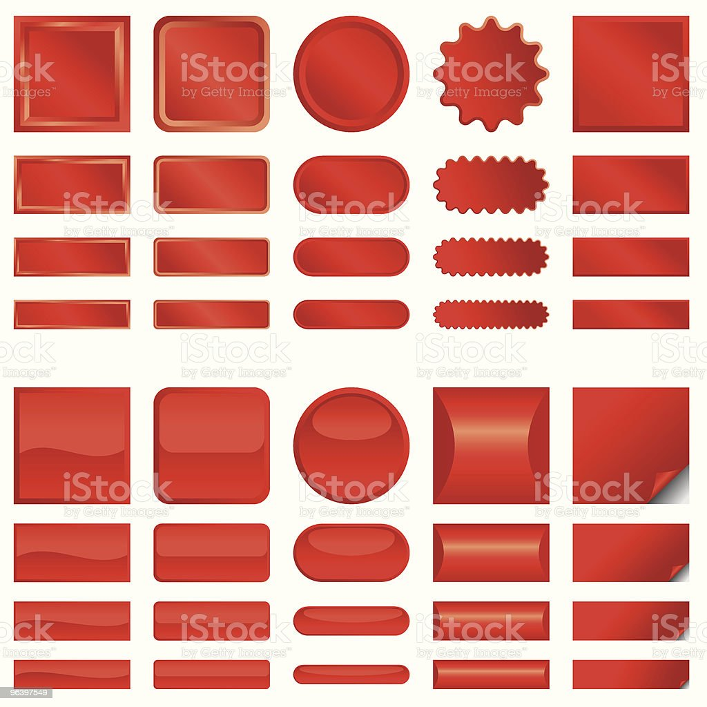 vector red web buttons - Royalty-free Beauty stock vector