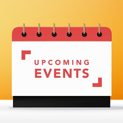 Vector Red & White Upcoming Event Calendar