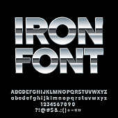 Set of massive Chrome Letters, Numbers and Symbols