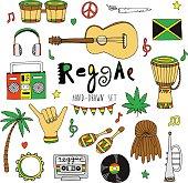 Vector reggae set