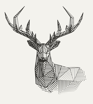 Vector reindeer illustration
