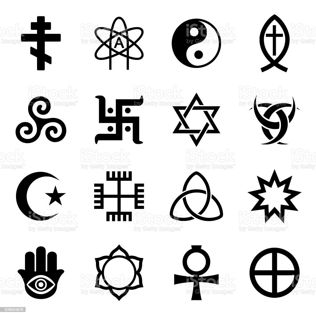 Vector Religious Symbols Icon Set Stock Vector Art More Images Of