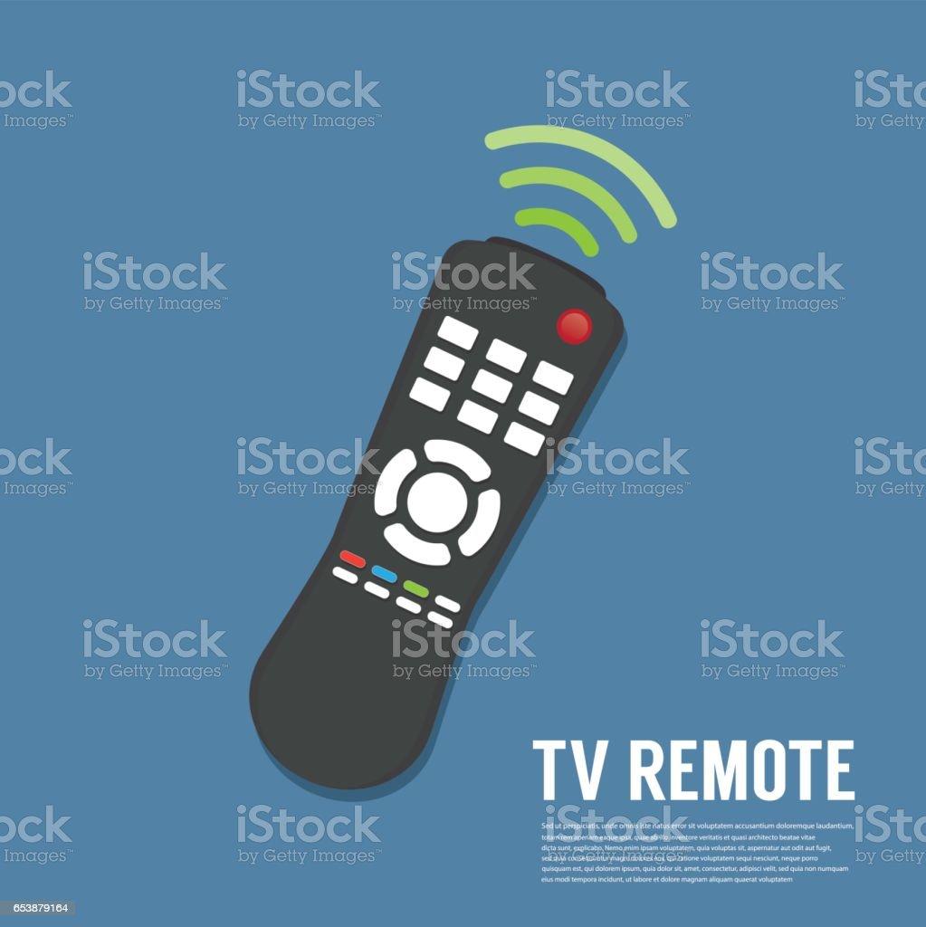 Vector remote control vector art illustration
