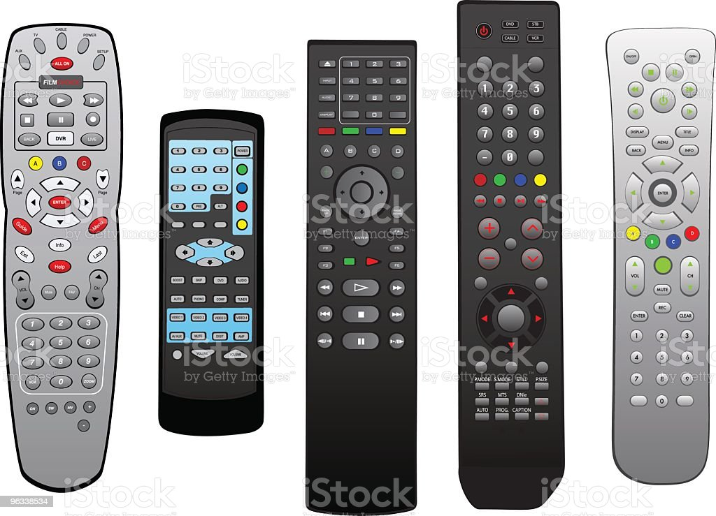 Vector Remotes royalty-free vector remotes stock vector art & more images of cable