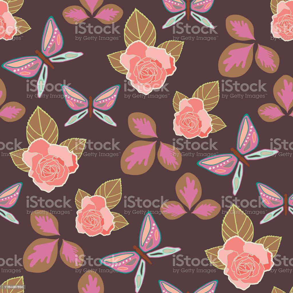 Multi-colored vector repeat seamless pattern. Illustration with...